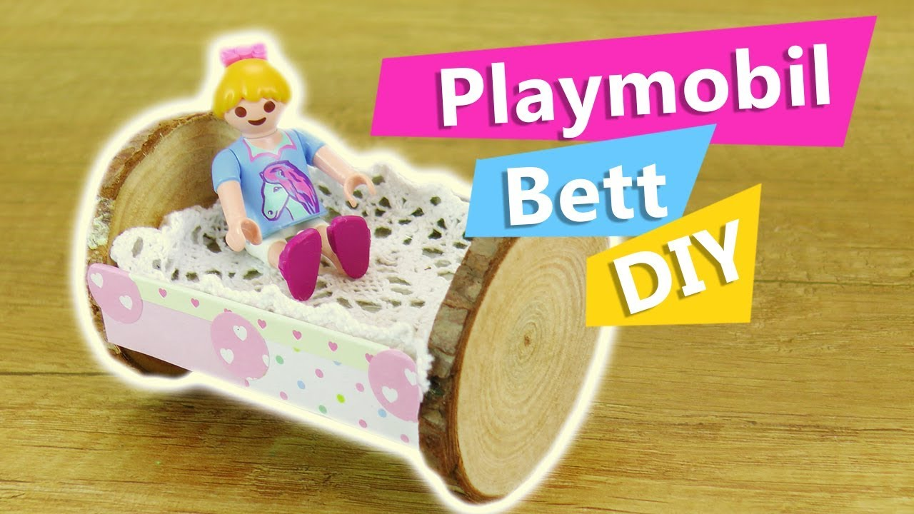 playmobil bett selber machen aus holz pappe mini puppenbett schaukelbett selber bauen diy. Black Bedroom Furniture Sets. Home Design Ideas