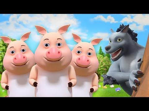 Three Little Pigs - Cartoon Songs & Nursery Rhymes by Little Treehouse