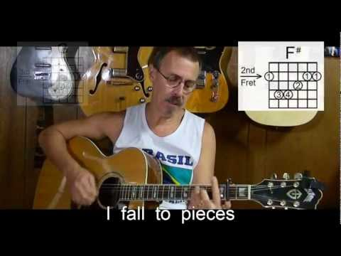 Patsy Cline - I Fall to Pieces with lyrics/chords - Cover- Easy Old Country Song - X9