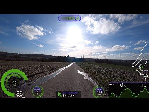 50 minute Fat Burning Indoor Bike Training Garmin GPS/Strava Data Action Ultra HD