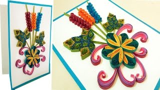 ☑️Paper Quilling Art ❤ How to make new model Quilling Christmas Cards