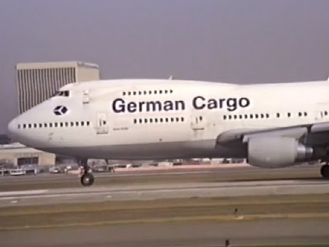 German Cargo 747-230B(SF) Departing LAX
