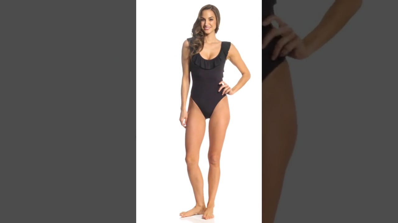 7f30d35456719 Kenneth Cole Reaction Ready to Ruffle Scoopneck One Piece Swimsuit ...