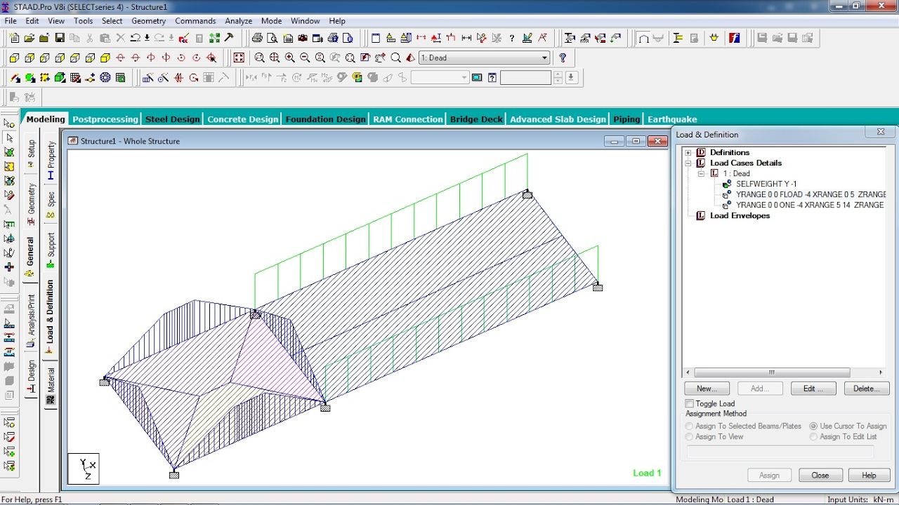 STAAD Pro Tutorials Analysis Design of One Way Two Way Slab