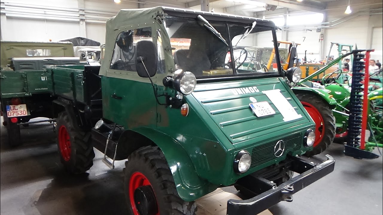 1956 mercedes benz unimog 411 exterior and interior technorama ulm 2016 youtube. Black Bedroom Furniture Sets. Home Design Ideas