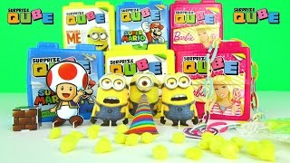 Surprize Cube Surprise Eggs Despicable Me Barbie Super Mario Kids Toys + Spongebob