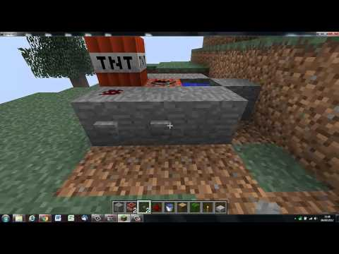 minecraft tuto petit canon a tnt youtube. Black Bedroom Furniture Sets. Home Design Ideas