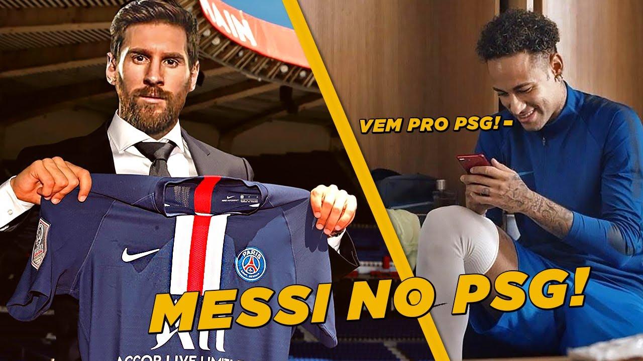 NEYMAR QUER LIONEL MESSI NO PSG!! | MANCHESTER CITY DE ...