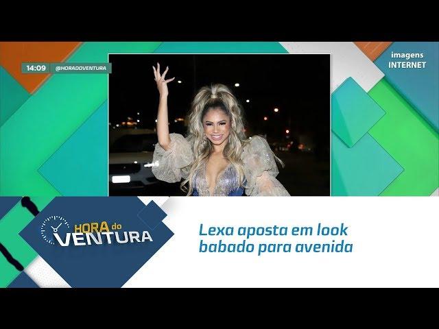 Lexa aposta em look babado para avenida - Bloco 01
