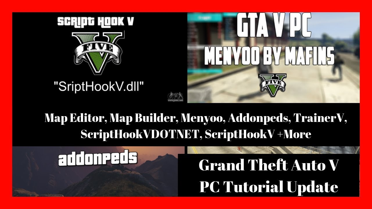 GTAV PC Tutorial: Map Editor, Map Builder, Addonpeds, TrainerV, Menyoo,  Update Install Tutorial
