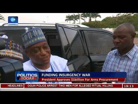 President Buhari Approves Fund For Arms Procurement  Politics Today 