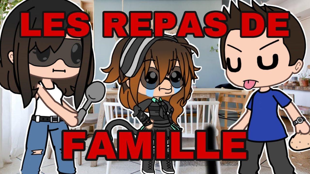 «MOI AUX REPAS DE FAMILLES»||GACHA LIFE VOCAL FR|| - SWIMLY (Ft mes parents)