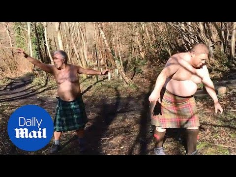 BBC Kilted Yoga Video Hilariously Sent Up By Tubby Scots In Kilts - Daily Mail