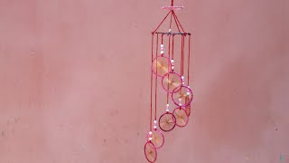 How to make wall hanging  from waste bangle step by step