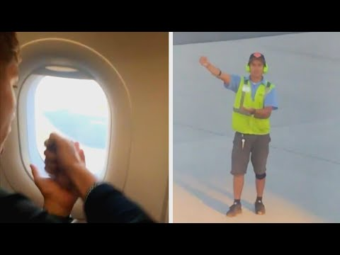 Lance Houston - Ground Control Worker Gets Plane Passengers In Rock-Paper-Scissors Battle