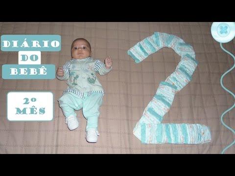DIÁRIO DO BEBÊ- 2º Mês do Arthur Henrique   Thaís Cardoso