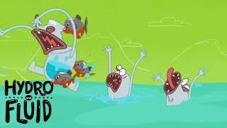 HYDRO и FLUID | HYDRO, ЖИДКОСТЬ И ВОЗ !!! | Мультфильмы для детей | WildBrain Cartoons | WildBrain
