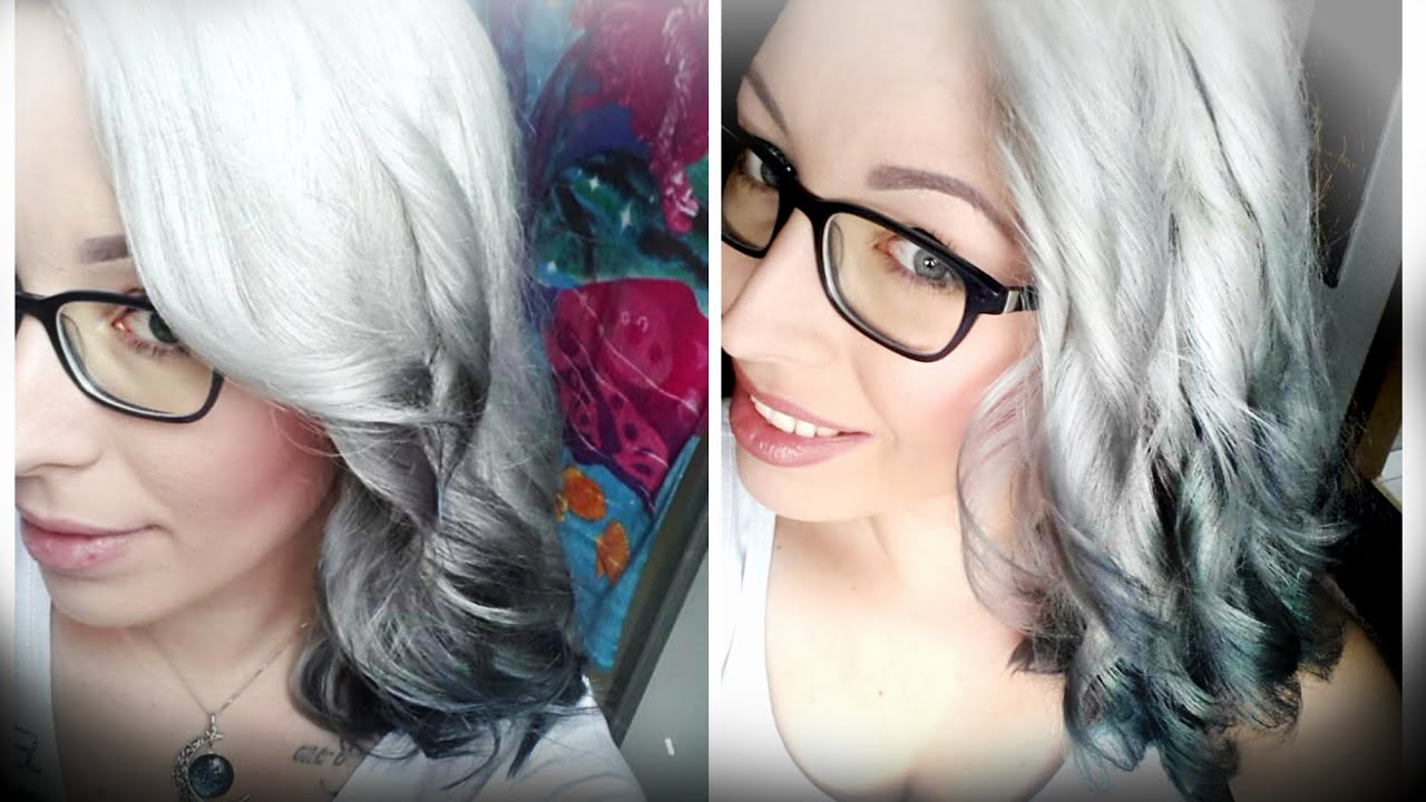 Silver To Black Ombre Hair Feat Sarahfeenzauber Tutorial By