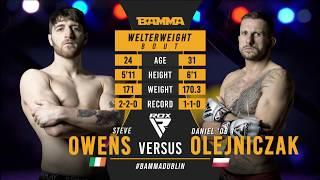 BAMMA 35: Steve Owens vs Daniel Olejniczak