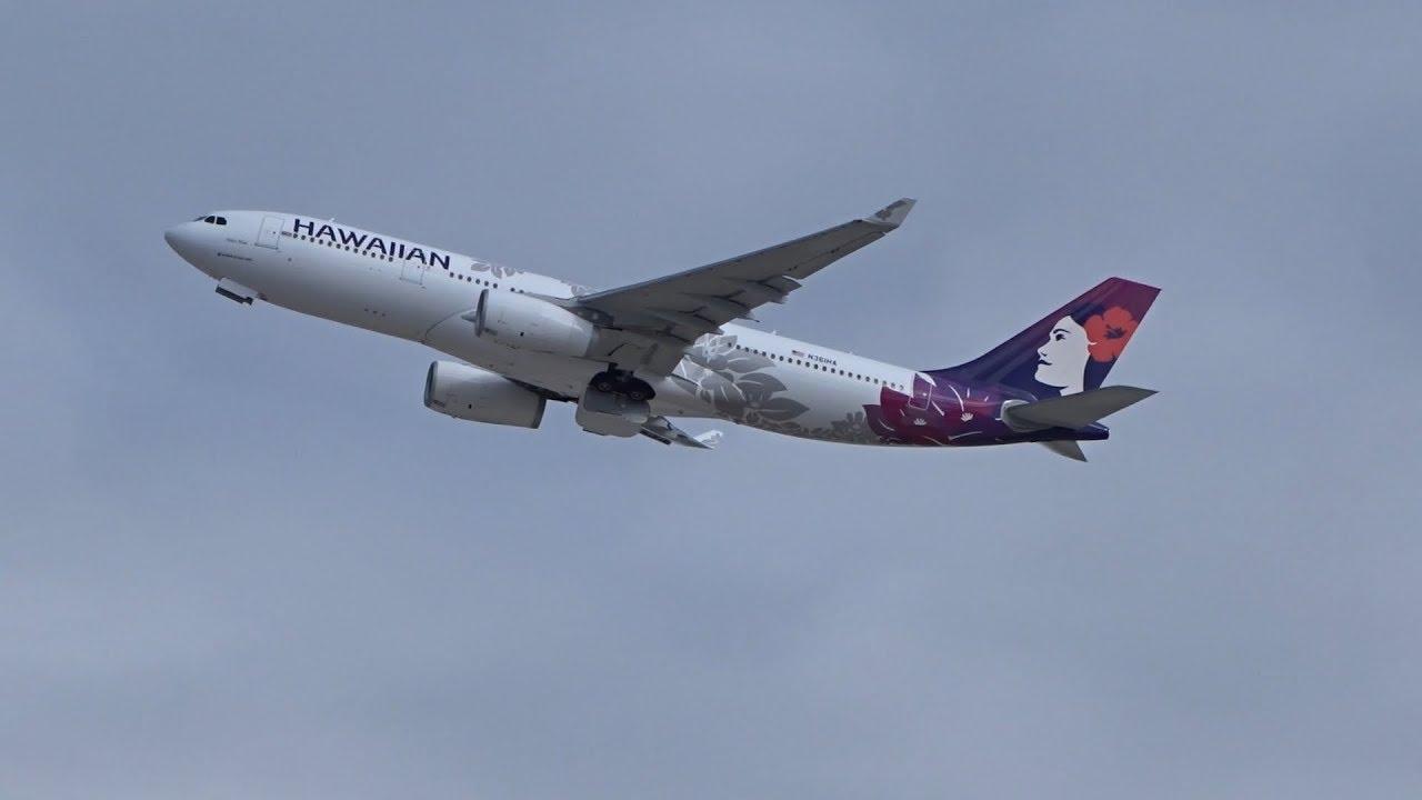 Hawaiian Airlines A330-243 (N361HA)(New Livery) departs Las Vegas