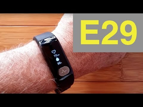 E29 ECG PPG Smart Wristband with Feature Rich Tethering App: Unboxing & Review