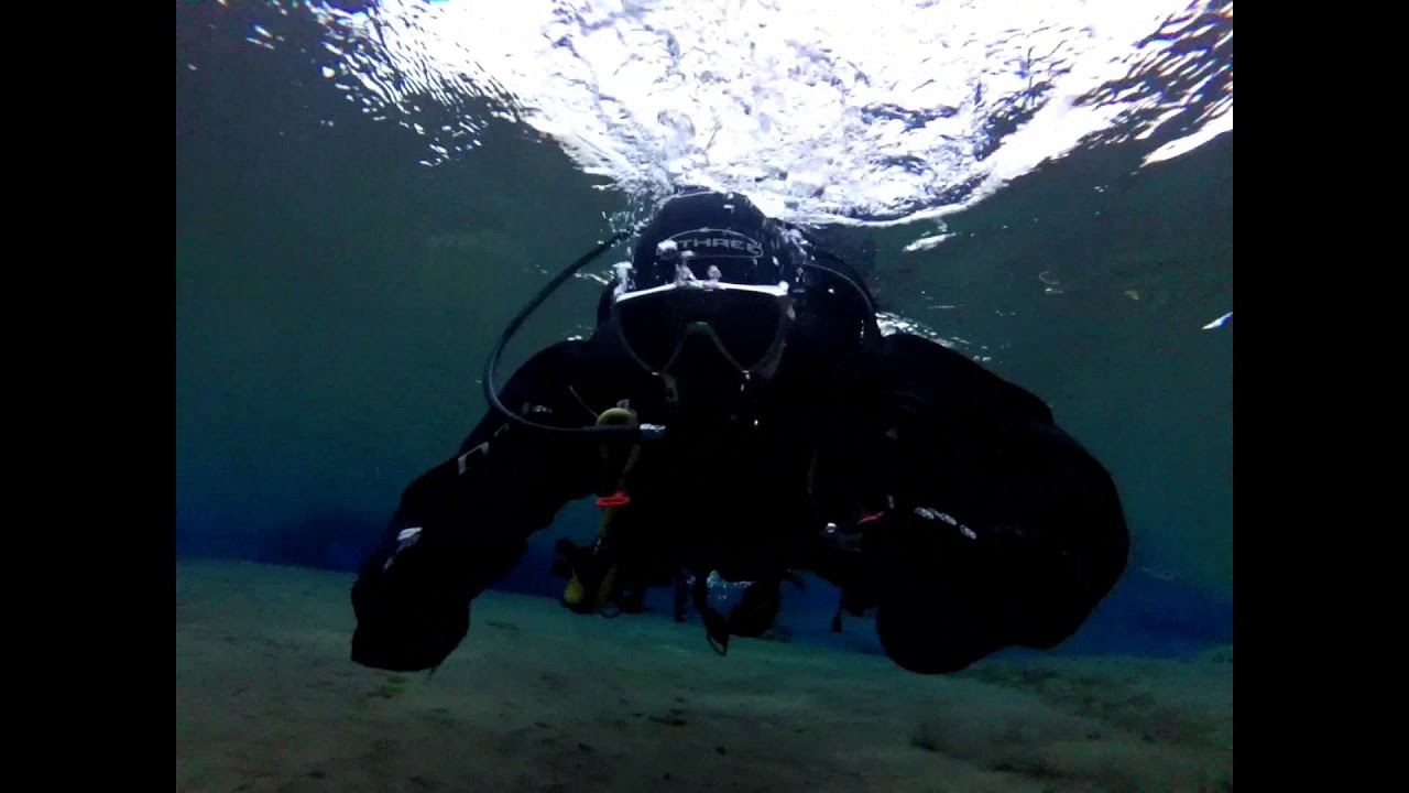 Midnight Scuba Diving in Iceland