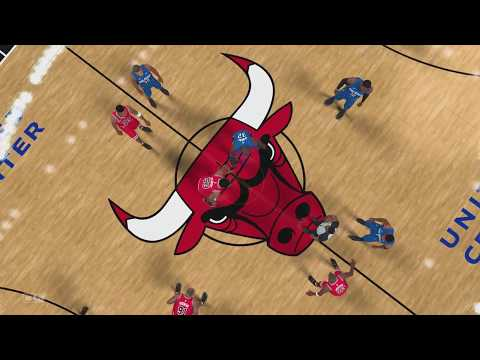 NBA 2k18 - All Time Chicago Bulls Team vs All Time Orlando Magic Team