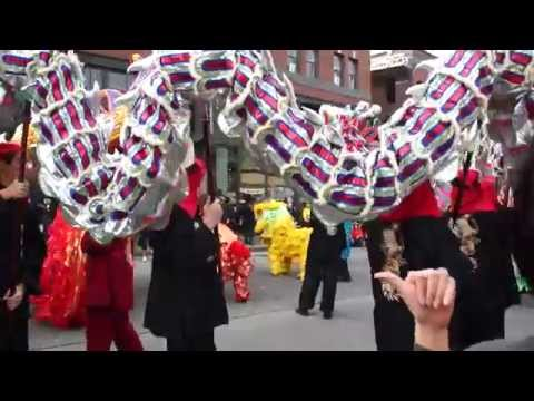 Lion and Dragon Dance at Bruce Lee's new museum in Seattle