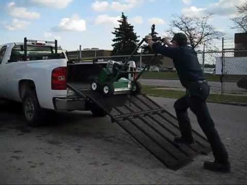 Pickup Truck Ramps >> Bannerman Truck Loading Ramp at Use - YouTube