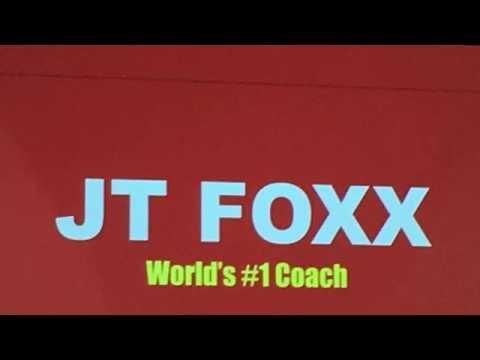 Reggie Batts being funny and inspirational at JT Foxx Mega Speaker Event Sydney 2016