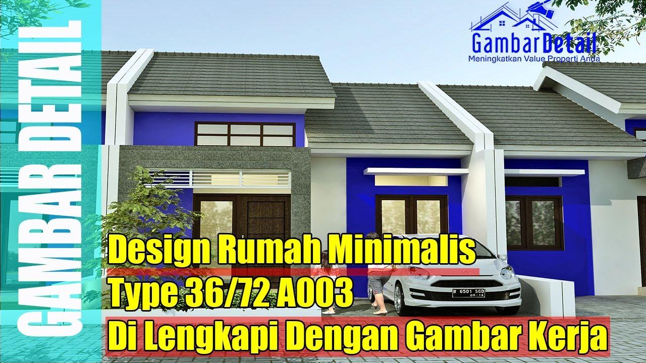 Desain & Denah Rumah Minimalis Type 36 72 l Desain ...