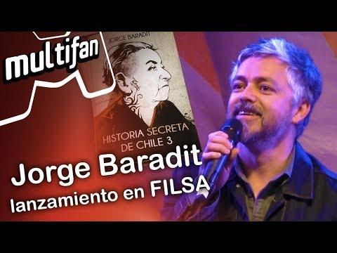 "Jorge Baradit presentó ""Historia secreta de Chile 3"" en Filsa 2017"