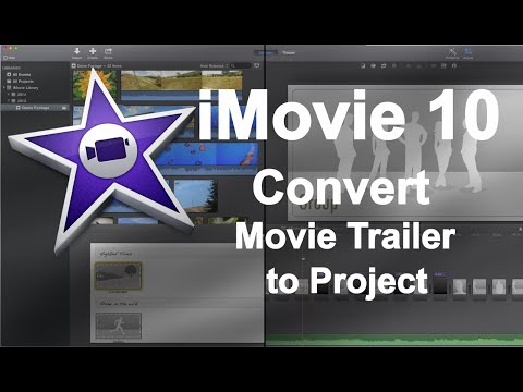 iMovie 10 Quick Tip - Convert a Movie Trailer into an iMovie Project