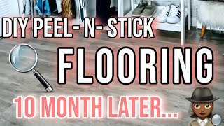 DIY Peel-and-Stick Vinyl Flooring Over Existing Flooring | 10 MONTH REVIEW