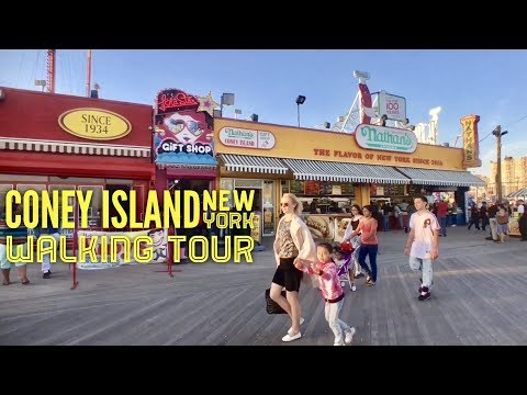 2017 Coney Island New York Walking Tour Luna Park Deno's Wonder Wheel