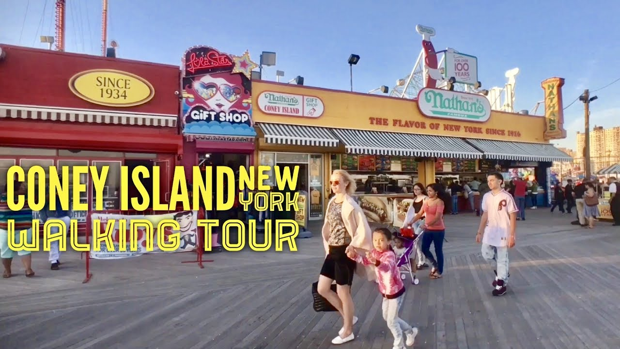 Coney Island Hours >> 2017 Coney Island New York Walking Tour Luna Park Deno S Wonder Wheel