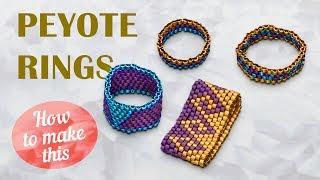 How to make this Peyote Rings | Seed Beads Rings + Midi Rings
