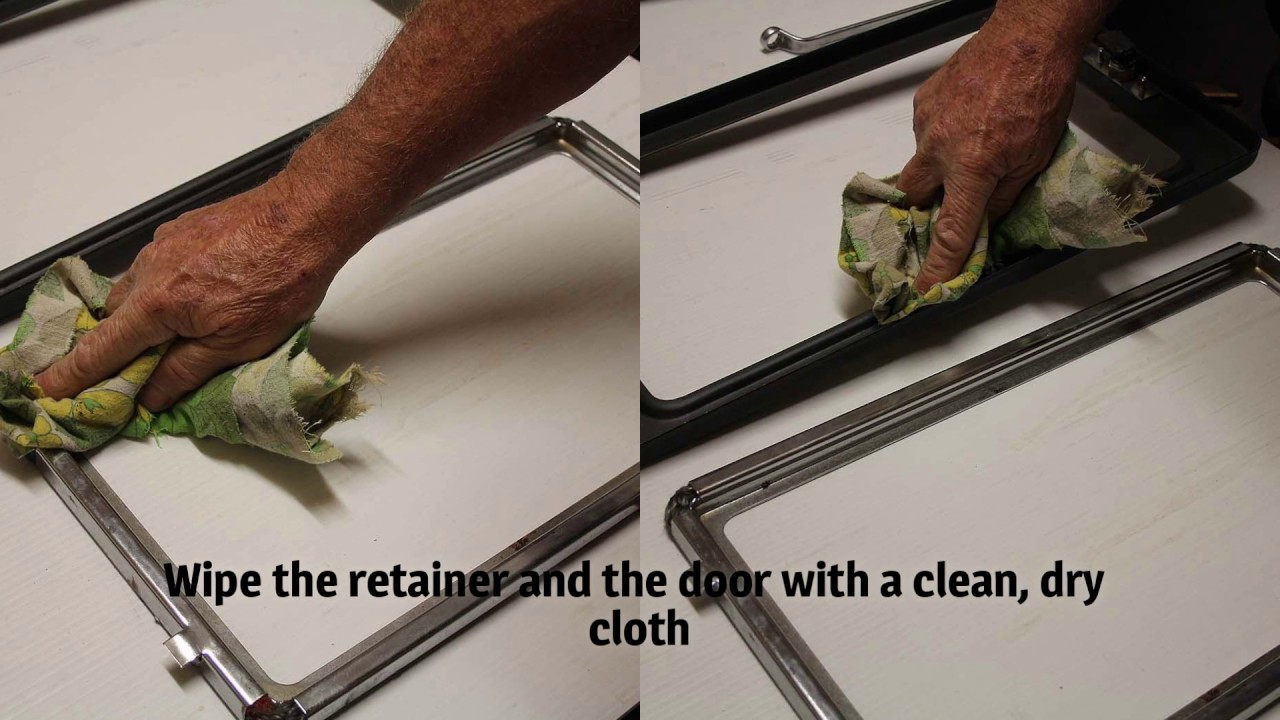 Replace Wood Heater Door Glass Tape Seal Gasket Youtube