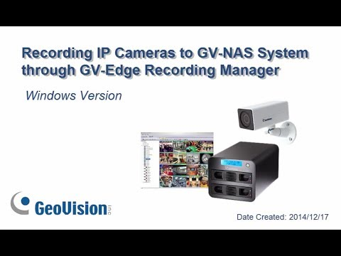 GV‐Edge Recording Manager (Windows Version) - Edge Recording