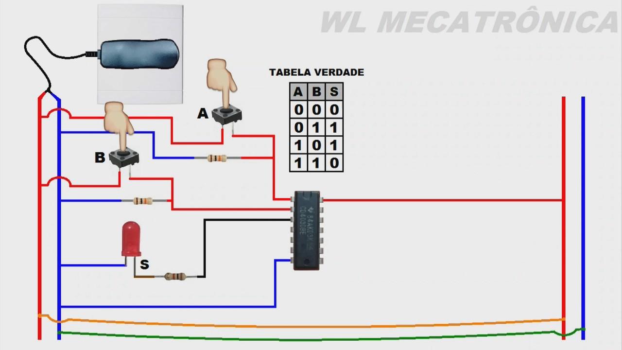 Circuito Integrado Xor : Porta lógica quot ou exclusivo xor circuito integrado