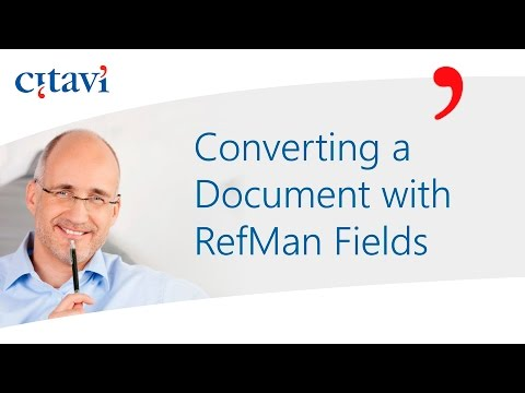 Converting a Document with RefMan Fields