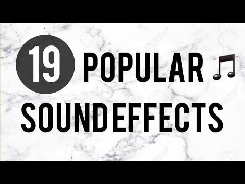 Popular sound effects YouTubers use