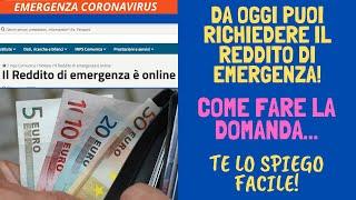 Da Oggi Puoi Richiedere Il Reddito Di Emergenza! Come Fare La Domanda... Te Lo Spiego Facile!