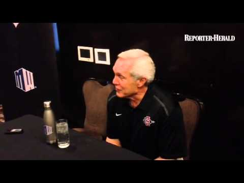 San Diego State coach Rocky Long in his Aztecs being predicted to win the MW West Division