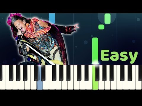 Aerosmith - DREAM ON - Easy Piano Tutorial with SHEET MUSIC thumbnail