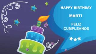 Martiespanol  pronunciacion en espanol   Card Tarjeta141 - Happy Birthday