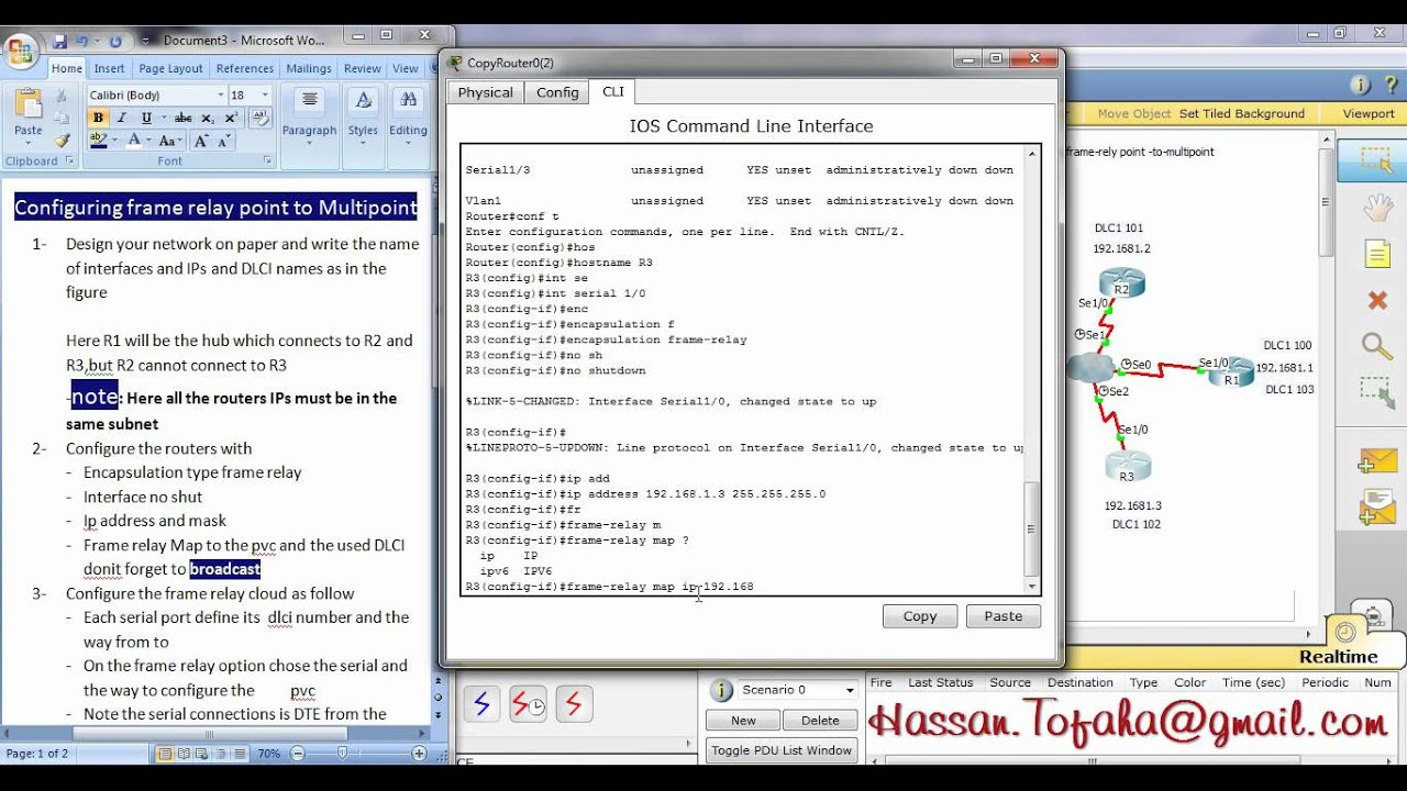 configuring frame rely point to multipoint on packet tracer CCNA ...