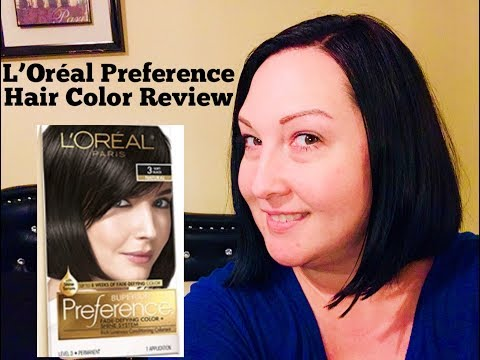 ♡L'OREAL SUPERIOR PREFERENCE HAIR COLOR 3 SOFT BLACK PROFESSIONAL HOW-TO & RESULT