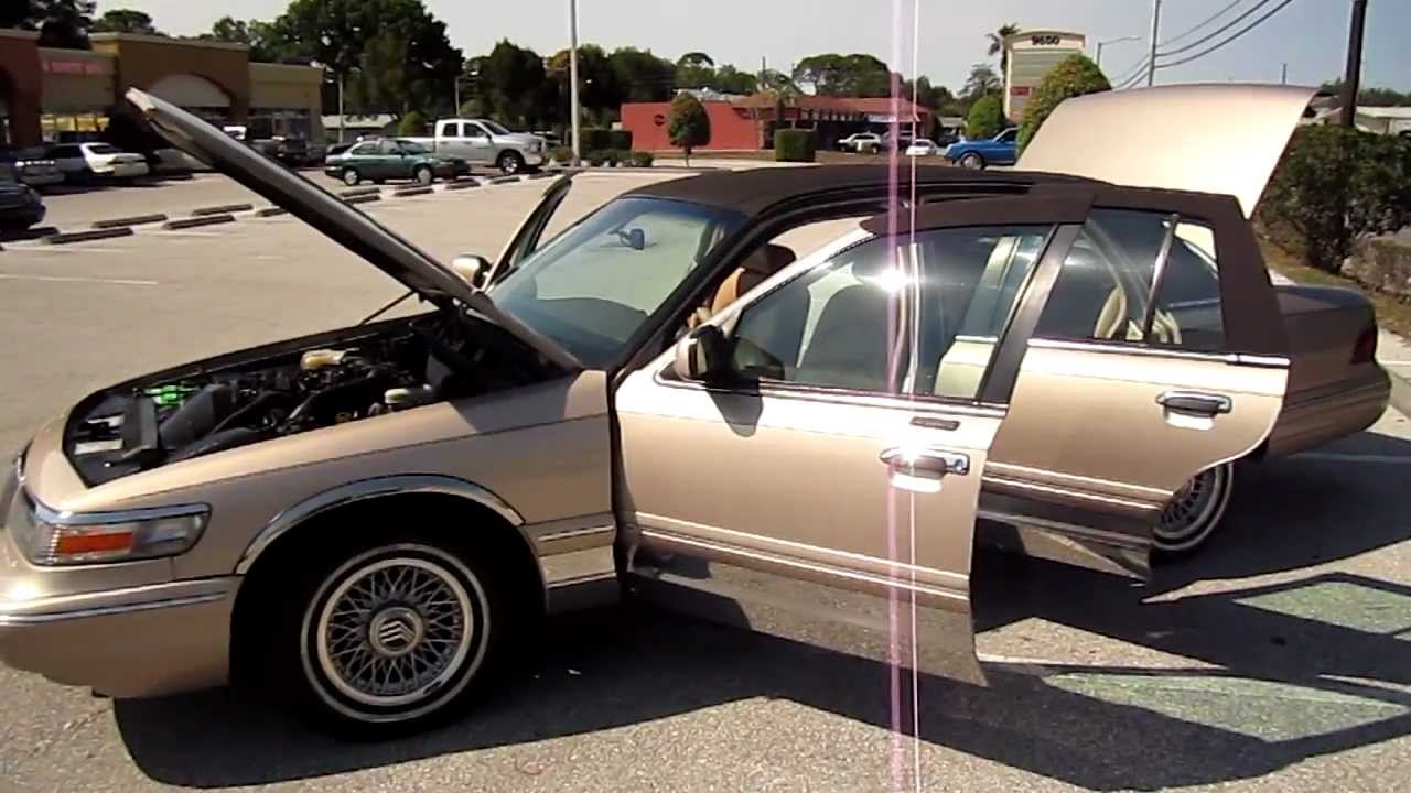 sold 1997 mercury grand marquis ls leather loaded mint meticulous motors florida for sale youtube [ 1280 x 720 Pixel ]