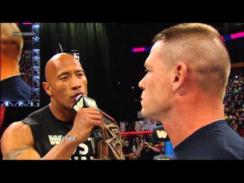 The Rock and John Cena are eager for their clash at WrestleMania 29: Raw, March 4, 2013